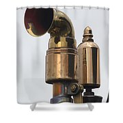 Brass Horn Shower Curtain