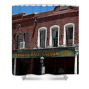 Brass Rail Saloon Shower Curtain
