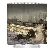 Bray Promenade, Bray, County Wicklow Shower Curtain
