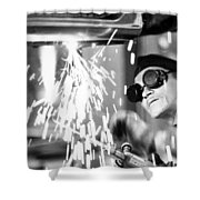 Brazil: Welder, 1961 Shower Curtain