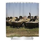 Brdm-2 Combat Reconnaissancepatrol Shower Curtain