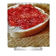 Bread And Jelly Shower Curtain