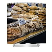 Bread Market Shower Curtain by Heather Applegate