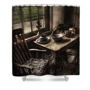 Breakfast Table Shower Curtain