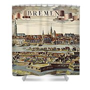 Bremen, Germany, 1719 Shower Curtain
