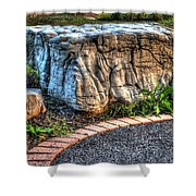 Brenda's Boulder At Dawn Or Altar In The Garden Shower Curtain