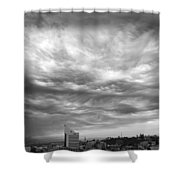 Brewing Sky Shower Curtain