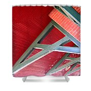 Brick And Wood Truss Shower Curtain