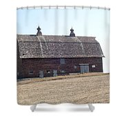 Brick Barn Shower Curtain
