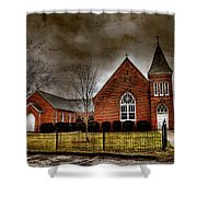 Brick Church Shower Curtain