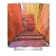 Old Stairs - Bisbee Az Shower Curtain