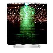 Brick Tree Shower Curtain