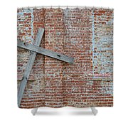Brick Wall Cross Shower Curtain