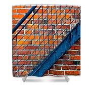 Bricks And Steel Shower Curtain