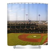 Bricktown Ballpark Shower Curtain