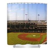 Bricktown Ballpark Shower Curtain
