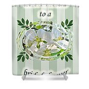 Bridal Shower Invitation - Apple Blossoms Shower Curtain
