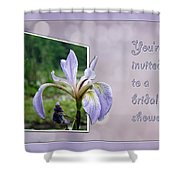 Bridal Shower Invitation - Blue Flag Iris Wildflower Shower Curtain