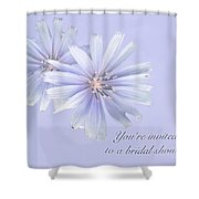 Bridal Shower Invitation - Chicory Wildflower Shower Curtain