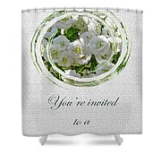 Bridal Shower Invitation - White Spirea Shower Curtain