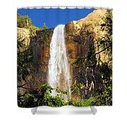 Bridal Veil Falls At Yosemite Shower Curtain