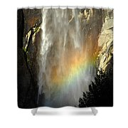 Bridal Veil Rainbow Shower Curtain