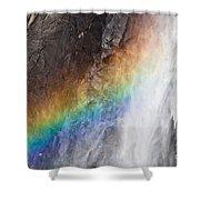 Bridalveil Fall Rainbow Shower Curtain