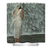 Bride Below Dam Shower Curtain