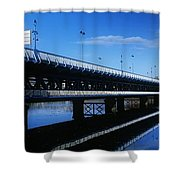 Bridge Across A River, Double-decker Shower Curtain
