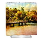 Bridge At Cypress Park Shower Curtain