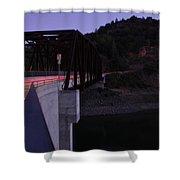 Bridge At Dusk Shower Curtain