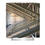 Bridge Geometry Shower Curtain
