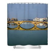Bridge In Florence Shower Curtain
