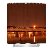 Bridge In The Mist Shower Curtain