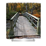 Bridge Into Autumn Shower Curtain
