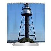 Bridge Lighthouse Shower Curtain