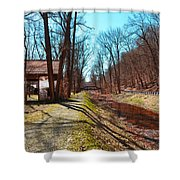 Bridge Number 2 Along The Delaware Canal Shower Curtain