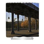Bridge Of Bir Hakeim In Paris Shower Curtain
