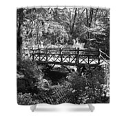 Bridge Of Centralpark In Black And White Shower Curtain