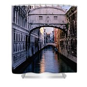 Bridge Of Sighs And Morning Colors In Venice Shower Curtain