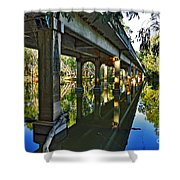 Bridge Over Ovens River Shower Curtain by Kaye Menner