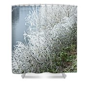 Bridge Over The River Severn Shower Curtain