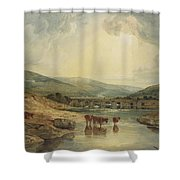 Bridge Over The Usk Shower Curtain