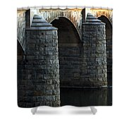 Bridge Pillars Shower Curtain