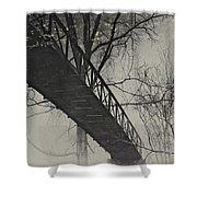 Bridge Reflection Shower Curtain