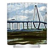 Bridge To Charleston Shower Curtain