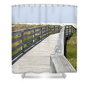 Bridge To The Beach Shower Curtain