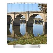 Bridge Upon Bridge Shower Curtain