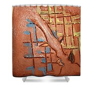Bridges  - Tile Shower Curtain