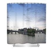 Bridges On River Seine. Paris. France Shower Curtain